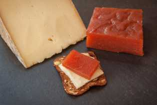 Quince Paste (Membrillo) w/ crackers and cheese