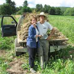Farmers Bruce and Jenny Wooster at Picadilly Farm